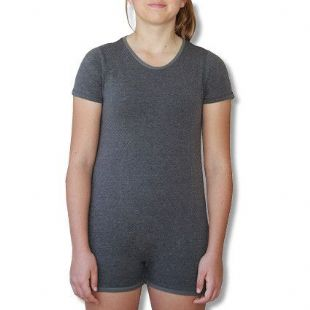 CLEARANCE Short Sleeve Wonsie Unisex BodySuit - Grey - Age 4 or 12 from